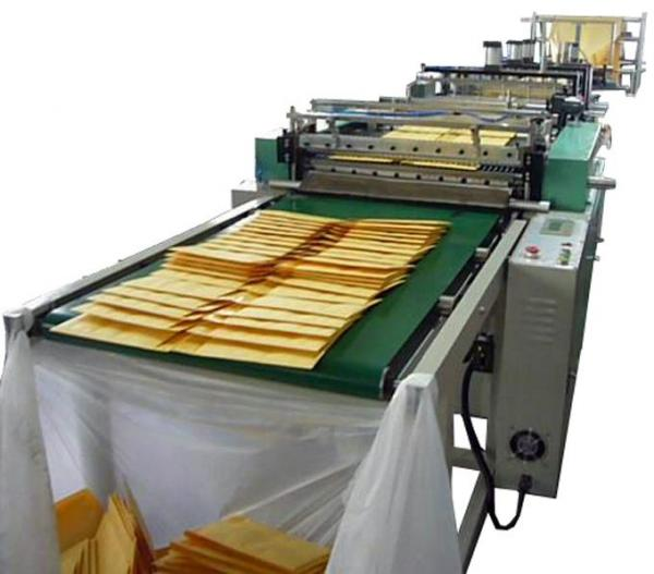 We have been successfully manufacturing, importing, exporting and supplying Fully Automatic Kraft Air Bubble Envelope Making Machine  that is much appreciated by our clients. This machine can produce variety of laminated kraft paper bags, kraft paper compounded with bubble bags, aluminum compounded with bubble bags and so on.